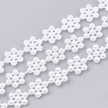 ABS Plastic Imitation Pearl Beaded Trim Garland StrandAJEW-S071-06-1