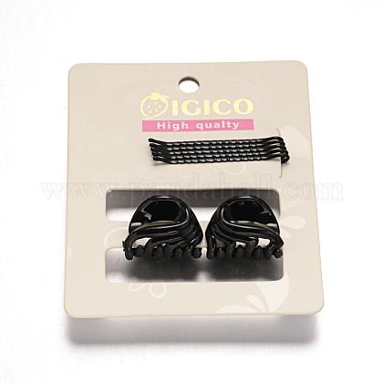Pelo hierro horquillas y accesorios de plástico de la garra del pelo pinzas para el cabello conjuntosOHAR-M020-04-1