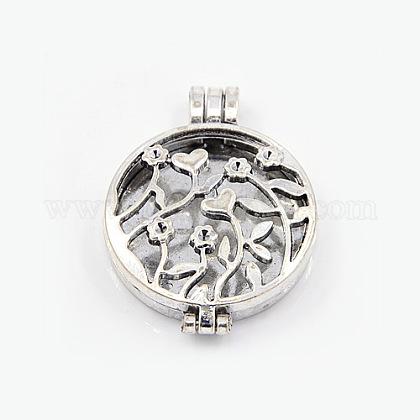Estilo tibetano colgantes medallón difusorX-TIBEP-A24737-AS-LF-1