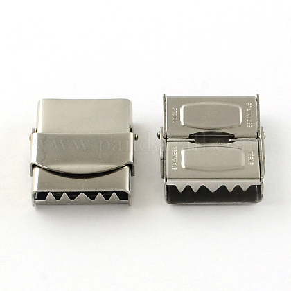 Smooth Surface 201 Stainless Steel Watch Band Clasps STAS-R063-82-1