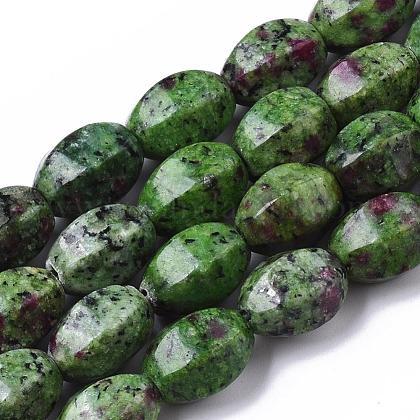 Rubí natural en hebras de abalorios zoïsiteX-G-T075-30-1