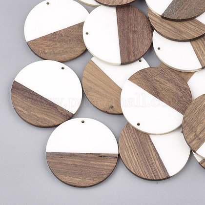 Colgantes de resina y madera de nogalRESI-S358-02A-01-1