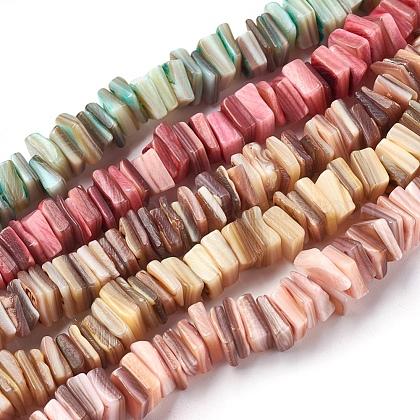 Abalorios de concha de agua dulce hebrasBSHE-O017-10-1