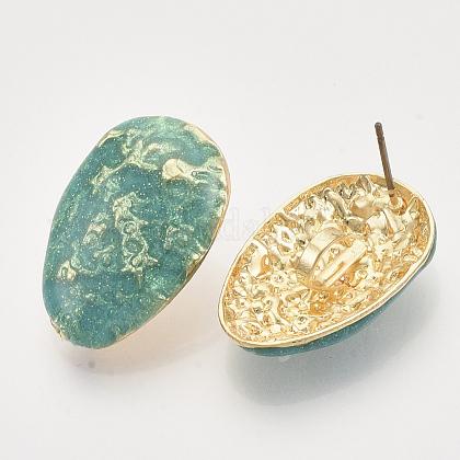 Fornituras de aretes de esmalte de hierroIFIN-N003-22A-1