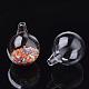 Handmade Blown Glass Globe BeadsBLOW-T001-01D-2
