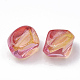 Two Tone Transparent Spray Painted Acrylic Beads Y-ACRP-T005-34A-2