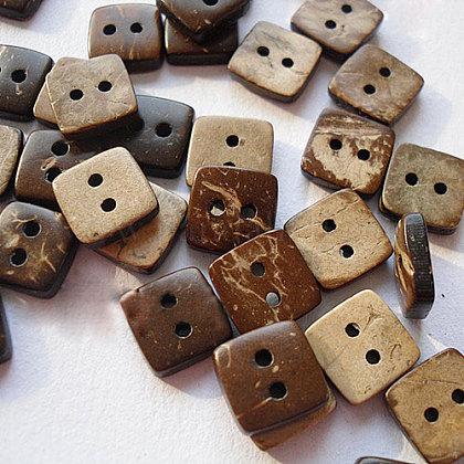 Cuadrada tallada botón de costura básica 2 hoyosNNA0YYM-1