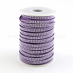 Faux Suede Cords, Faux Suede Lace, with Platinum Tone Rivet, for Punk Rock Jewelry Making, MediumOrchid, 5x2mm; about 25yards/roll(22.86m/roll)