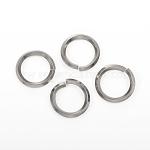 304 Stainless Steel Jump Ring, Open Jump Rings, Stainless Steel Color, 10 Gauge, 19x2.5mm, Inner Diameter: 14mm