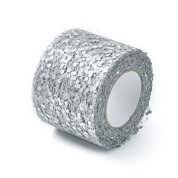 Glitter Sequin Netting Fabric, Tulle Roll Spool Fabric For Skirt Making, Gray, 2inches(5cm); about 10yards/roll(9.144m/roll)