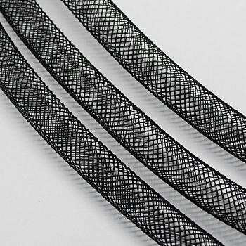 Cable de hilo de plástico neto, negro, 20 mm; 20 yardas / paquete