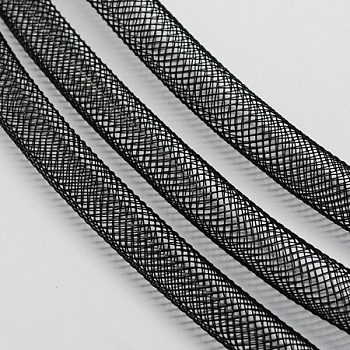 Plastic Net Thread Cord, Black, 20mm; 20yards/Bundle
