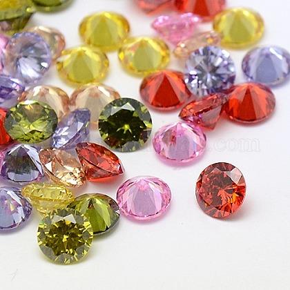Mixed Grade A Diamond Shaped Cubic Zirconia CabochonsX-ZIRC-M002-6mm-1