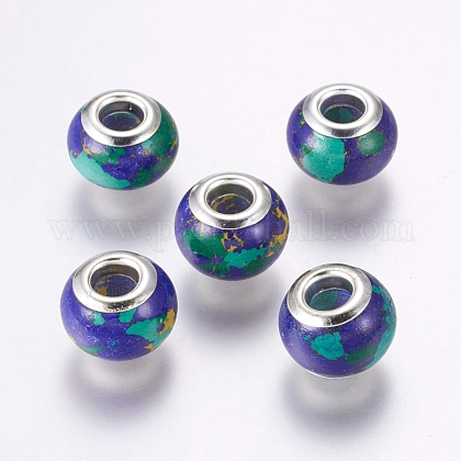 Perles Européennes turquoises synthétiquesSPDL-K001-B08-1