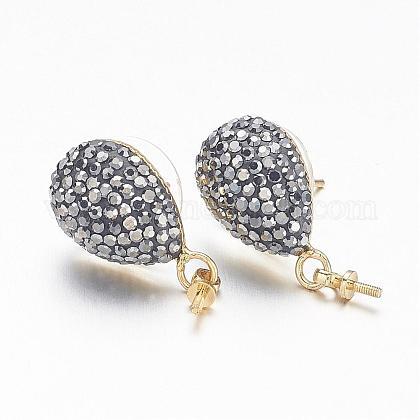 Brass Stud Earring FindingsRB-G158-06G-1