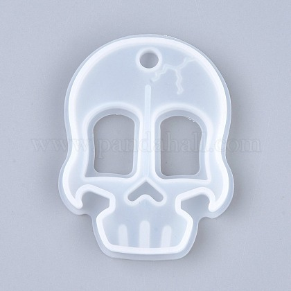 Self Defense Silicone Molds, Resin Casting Molds, Self Defense Finger Weapons Skull Keychains Molds, Clear, 85x65x10mm, Hole: 9mm, Inner Diameter: 79x60mm DIY-I036-15