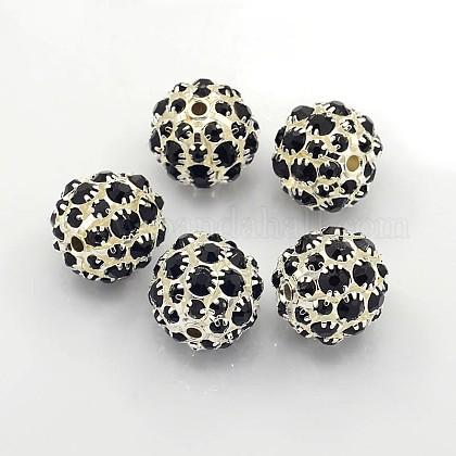 Perles en laiton de strassRB-Q165-6-1