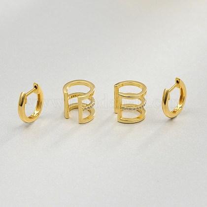 Juegos de aretes y pendientes de aro de latónEJEW-BB35145-1