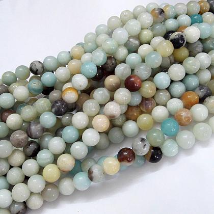 Natural Amazonite Beads StrandsG-G692-01-8mm-1