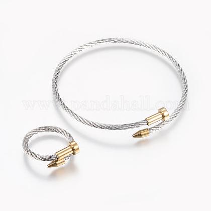 Conjuntos de joyería de 304 acero inoxidableSJEW-H123-01GP-1