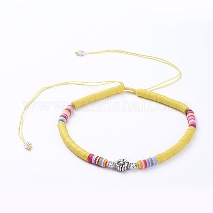 Collares ajustables con cordón de nylon trenzadoNJEW-JN02727-01-1