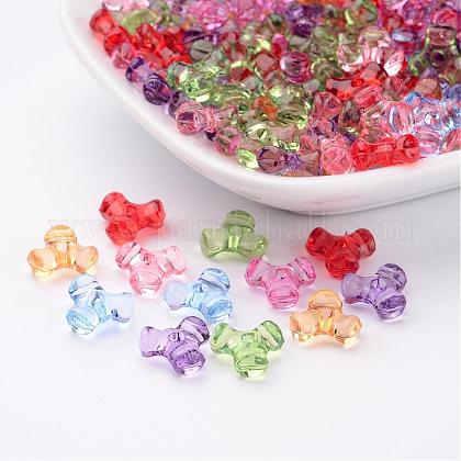 Transparent Acrylic Plastic Tri Beads for Christmas Ornaments Making X-PL699M-1