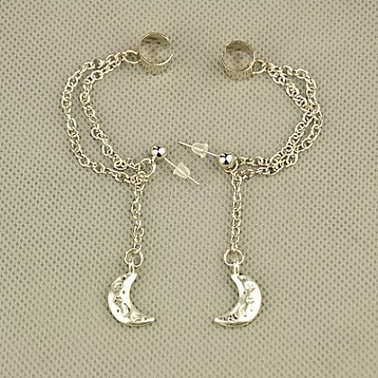 Fashion Tibetan Style Ear Cuff EarringEJEW-JE00561-09-1