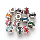 Perles de strass en 304 acier inoxydable, colonne, couleur inoxydable, 7x5mm, Trou: 3mm