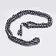 Collane di perle di mala di ematite sintetica non magneticaNJEW-K096-08-1