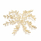 Brass Findings, Rhinestone  Settings, Branch, Real 18K Gold Plated, Fit for 2.5mm Rhinestone; 43x47x3mm