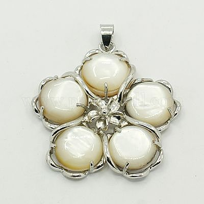 MOP Tear Drop Shell Pendant Mother of Pearl Translucent Round Pendant Earring Making 20Pcs- Round Shell Natural White Shell Slice Pendant