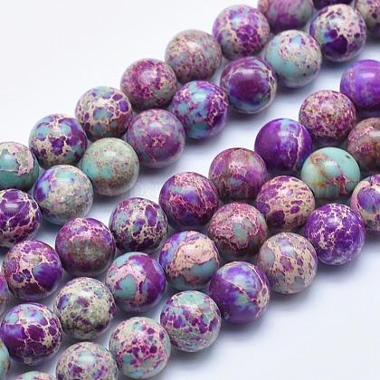 Natural Imperial Jasper Beads StrandsX-G-I122-8mm-15-1