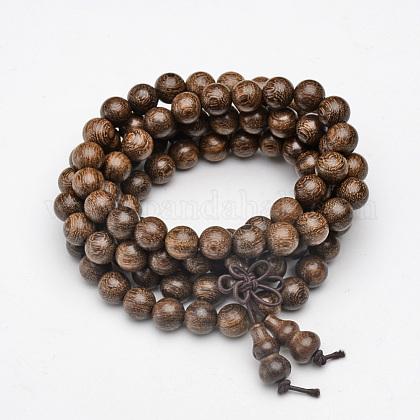5-Loop Wrap Style Buddhist JewelryBJEW-S125-17-1
