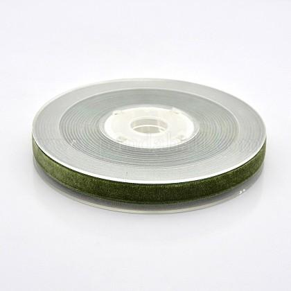 Ruban de velours en polyester pour emballage de cadeaux et décoration de festivalSRIB-M001-10mm-570-1