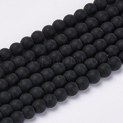 Chapelets de perles en verre transparente  X-GLAA-Q064-16-6mm-1
