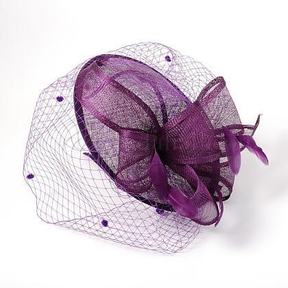 英国結婚式のためのエレガント暗い紫のファシネーターOHAR-S165-02-1