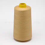 100% Spun Polyester Fibre Sewing Thread, LightKhaki, 0.1mm; about 5000yards/roll