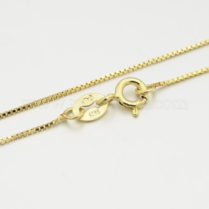 Sterling Silver Box Chain NecklacesX-STER-M086-03A-1
