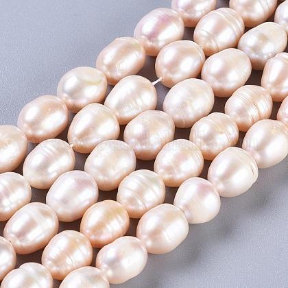 Hebras de perlas de agua dulce cultivadas naturalesPEAR-L029-01-1