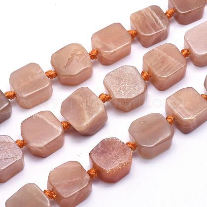 Natural Sunstone Beads StrandsG-K223-58A-1