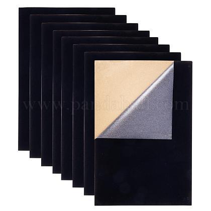 Benecreat 20 шт. бархатная (черная) ткань липкие задние клейкие задние листыTOOL-BC0008-02A-1