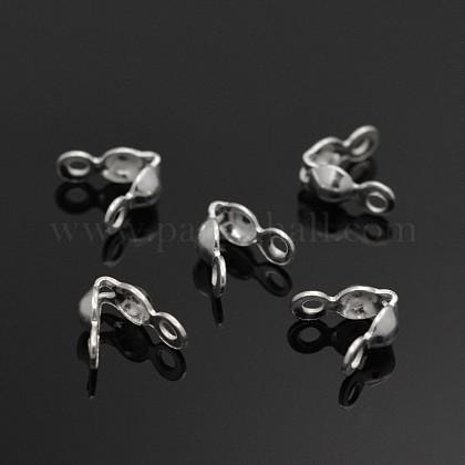 Tapanudos de abalorios de plata de leyX-STER-E040-03A-1