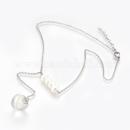Collares lariat de 316 acero inoxidableNJEW-JN02185-1
