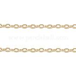 Железо кабельные сети, несварные, Плоско-овальные, розовое золото , 3x2x0.5 мм