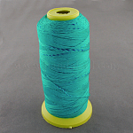 Nylon Sewing Thread, DarkTurquoise, 0.8mm, about 300m/roll