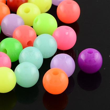 Perlas de acrílico fluorescentesMACR-R517-14mm-M-1