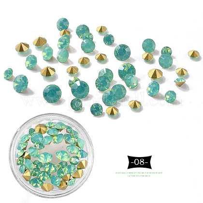 Accesorios de decoración del arte de uñas clavo del diamante artificial de punta acentuadaMRMJ-K001-52-08-1