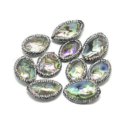 Teardrop Natural Paua Shell Pearl BeadsSSHEL-F291-28-1