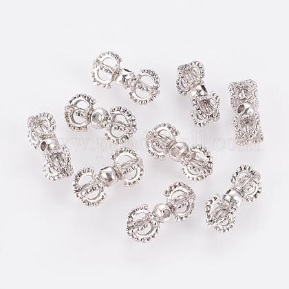 Tibetan Style Metal Alloy Dorje Vajra Beads for Buddhist Jewelry MakingPALLOY-S601-AS-FF-1