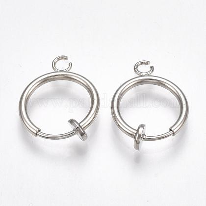 Brass Clip-on Hoop Earring FindingsKK-T038-244P-1